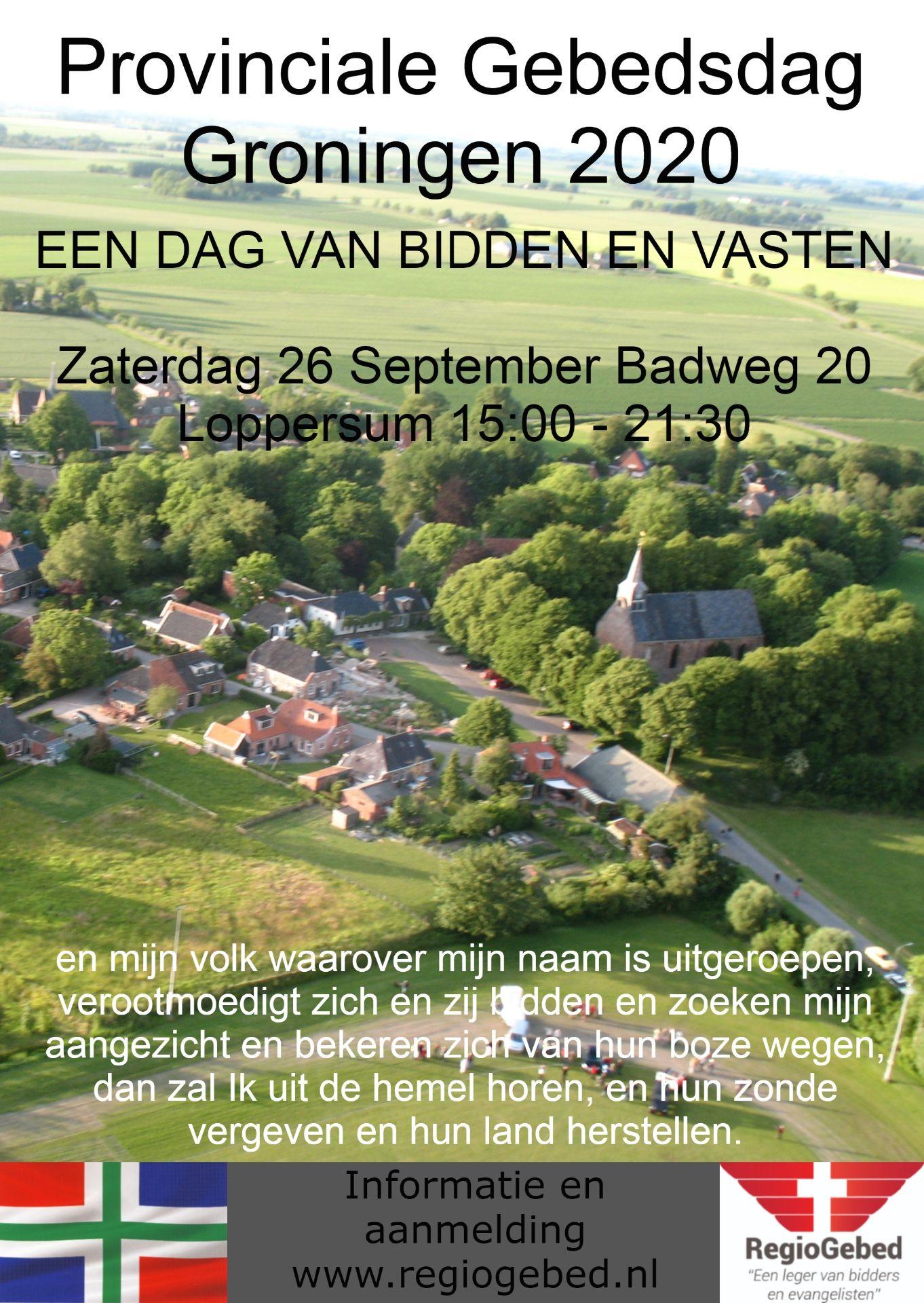 Provinciale Gebedsdag Groningen 2020
